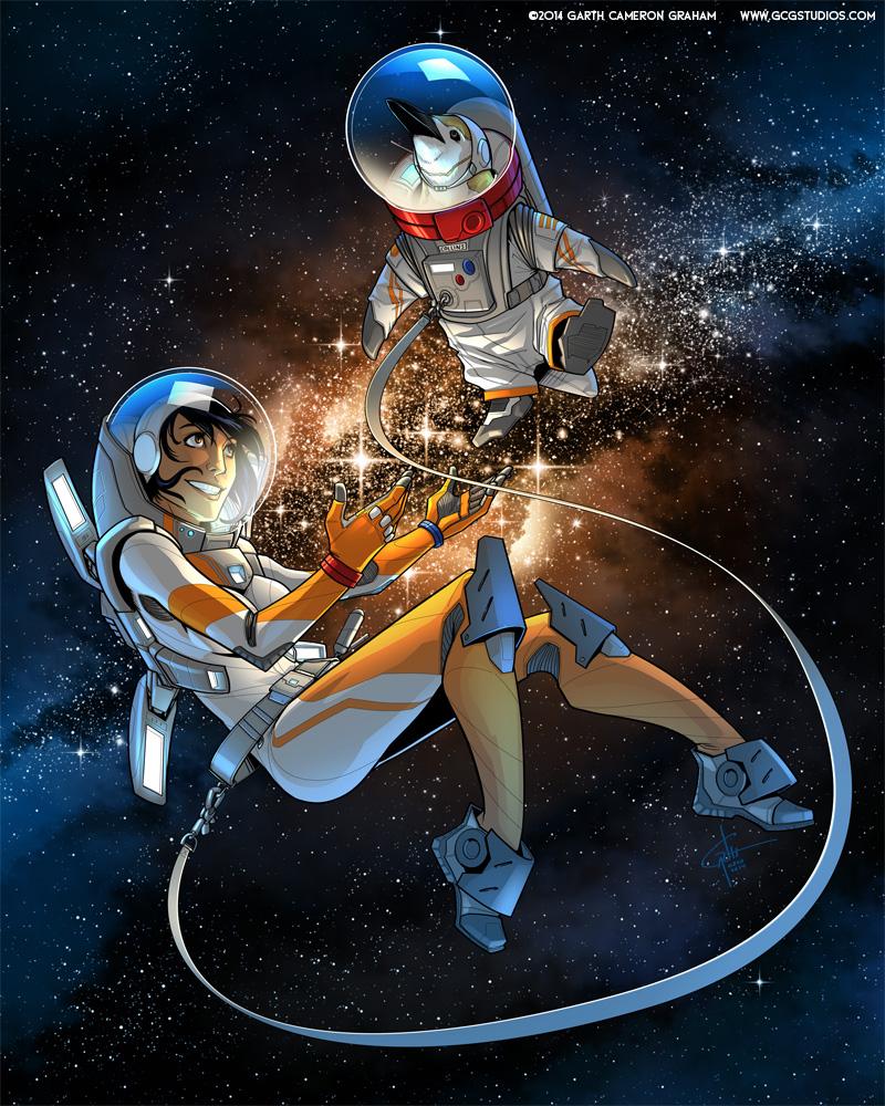 Space Penguin by GarthFT