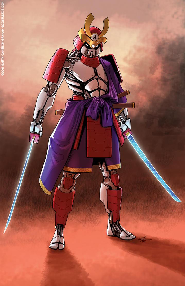 Cyborg Samurai by GarthFT