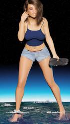 Ready to stomp the world: Teen Goddess by Drakhian