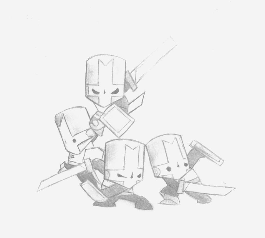Castle Crashers Characters Coloring