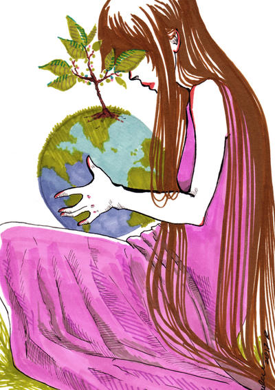 Earth Day by Kashoka