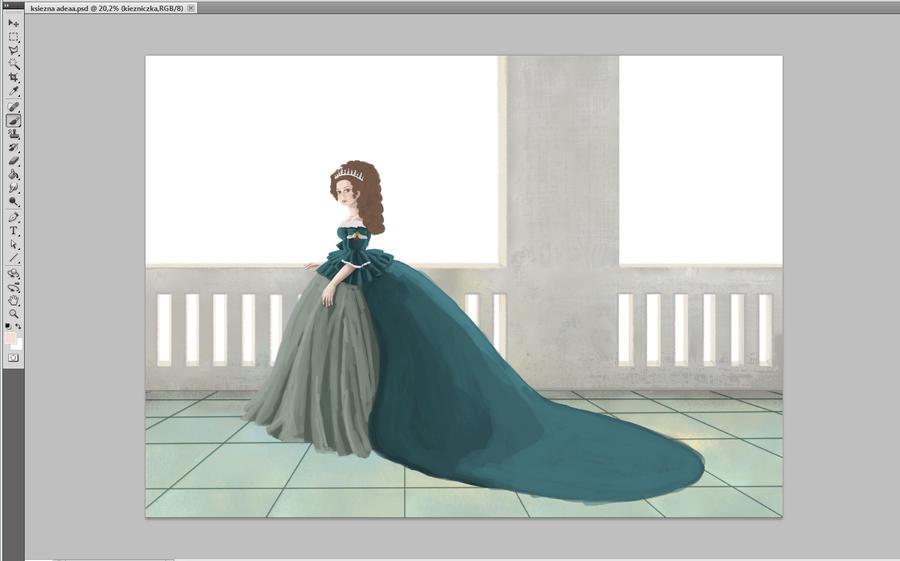 Duchess Adela (in progress - 02) by Kashoka