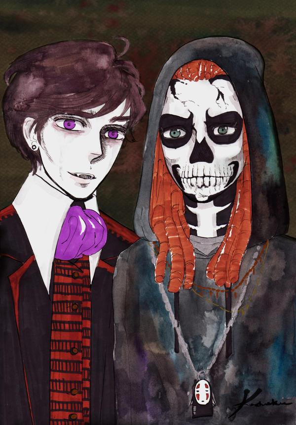 Dracula and Death (Wrath of Angel) Hallowen 6 by Kashoka