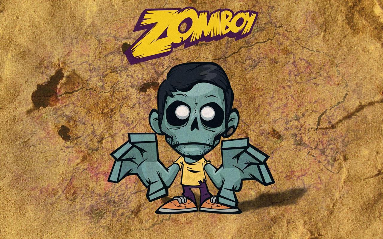 Wallpaper iphone zomboy -  Zomboy Game Time Wallpaper By Hoellenzwang