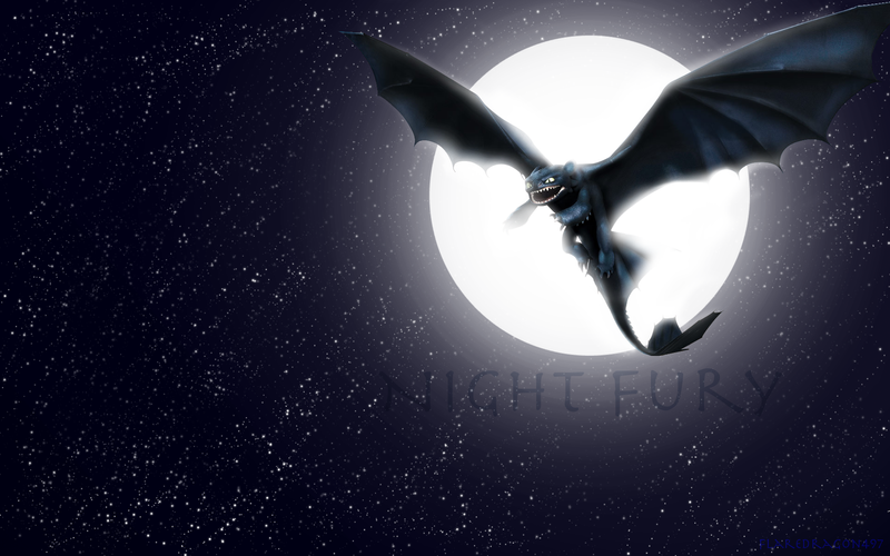 Night Fury Wallpaper by ~flaredragon497 on deviantART