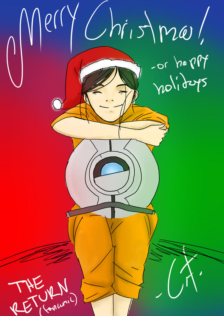 The Return: A Portal 2 fan comic] Comics - Merry Christmas!