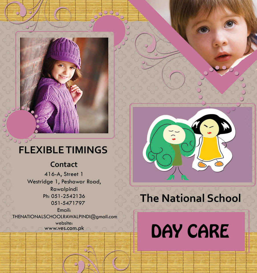 Brochure Daycare Brochure By Aashoo On DeviantArt - Child care brochure templates free