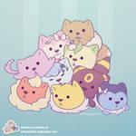 Eevee Cats Pile