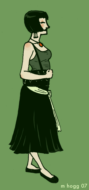green girl by agent57