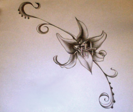 Lily tattoo design by silverspectrum23 on deviantart for Dragon lily tattoo