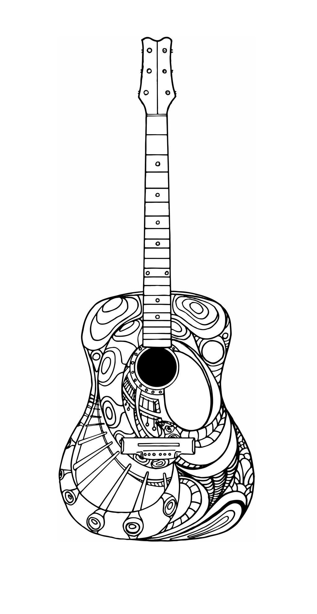 Line Art Guitar : Guitar line art by silverspectrum on deviantart