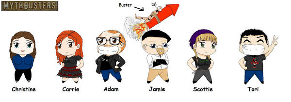 The Mythbusters Crew by Mythbusters-Club