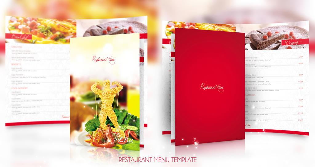 Restaurant Menu Template by sluapdesign