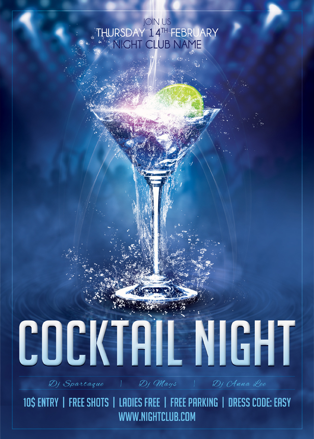 01 Cocktail Night Poster Template by sluapdesign on DeviantArt