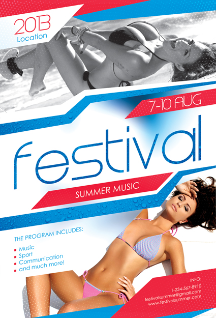 01 Festival Summer Music Flyer by sluapdesign