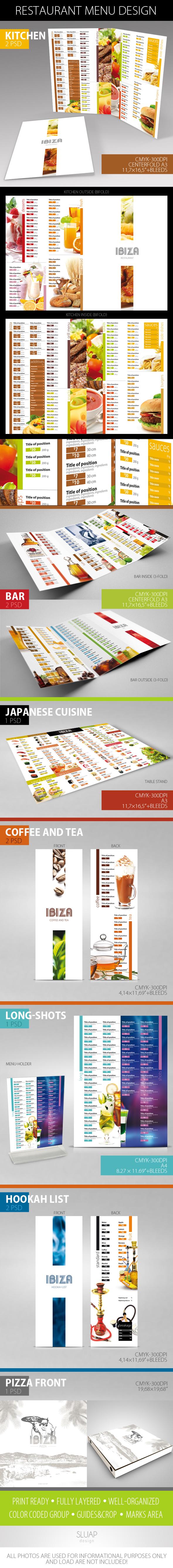 Restaurant Menu Design by sluapdesign