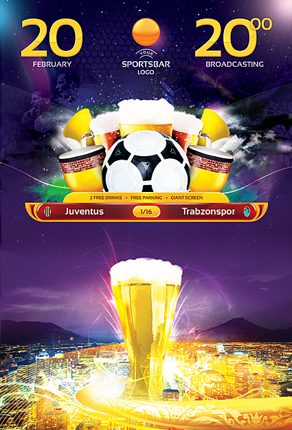 Europa Football Flyer Template by sluapdesign