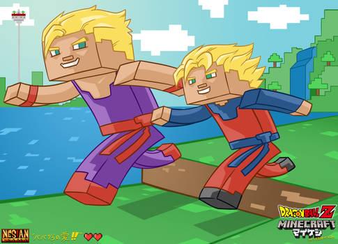 Gohan and Goten Minecraft