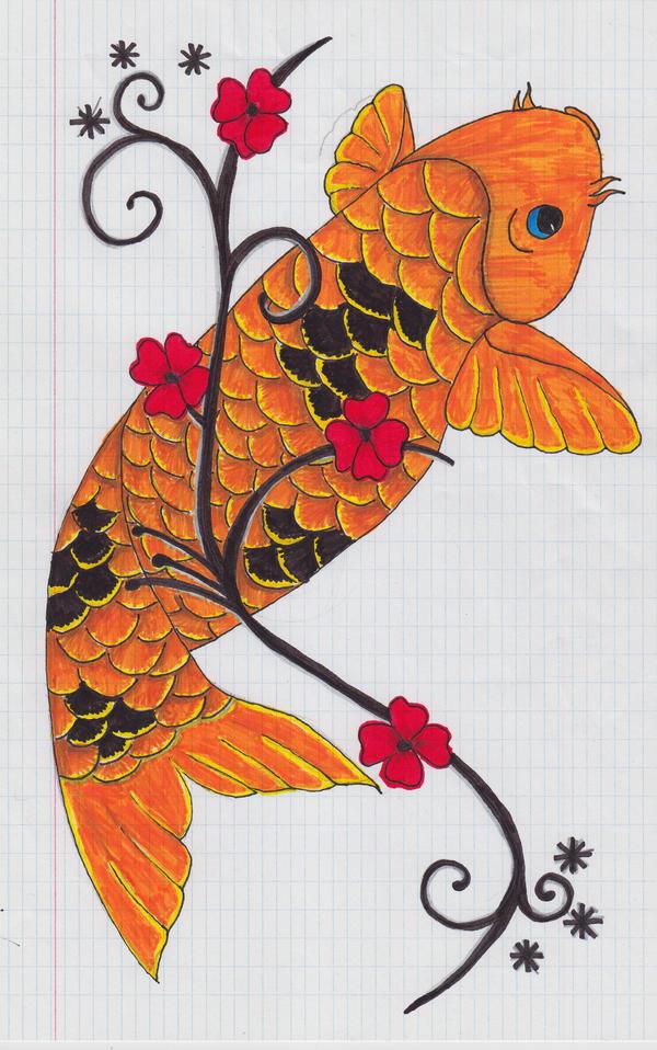 Orange and black koi by elketat on deviantart for Orange and black koi