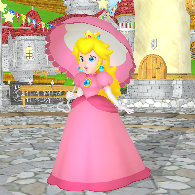 Mmd princess peach in castle by franciscogaga on deviantart for Princess peach wedding dress