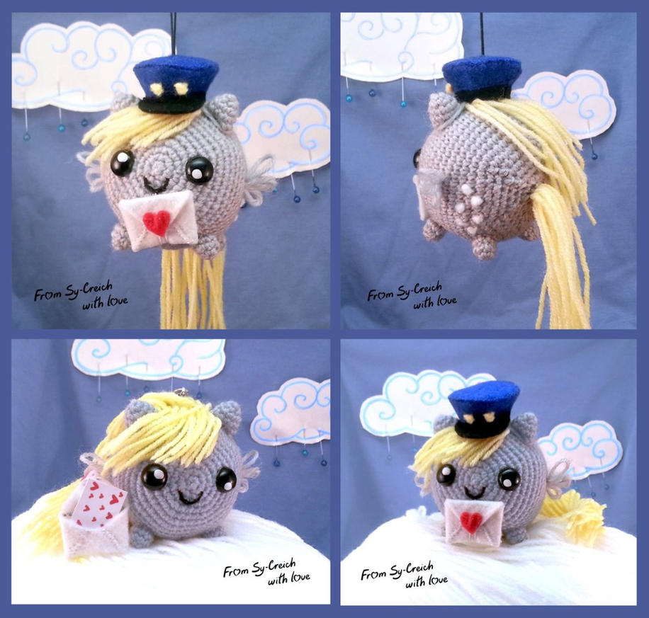 Derpy mail mare - crochet pony sphere by SyCreich-crochet