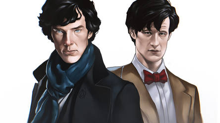 Sherlock X Doctor Who by TheAngryMammoth