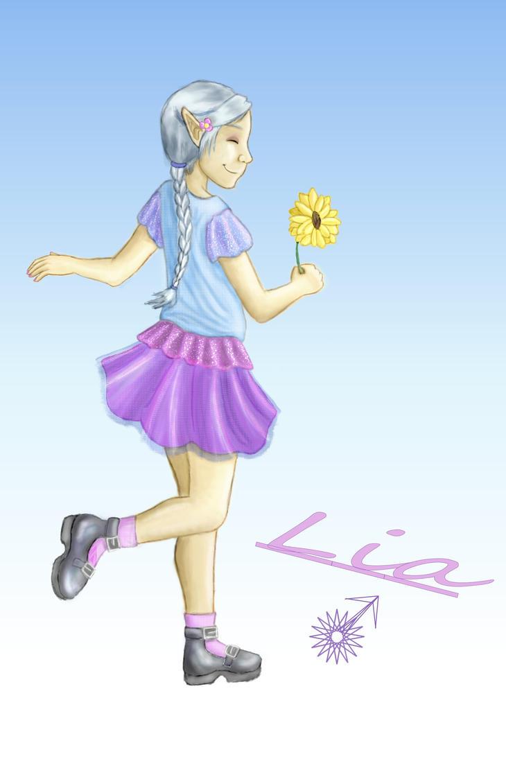 Lio Age 8 With Pretty Skirt (Lia) by AllieKat1996