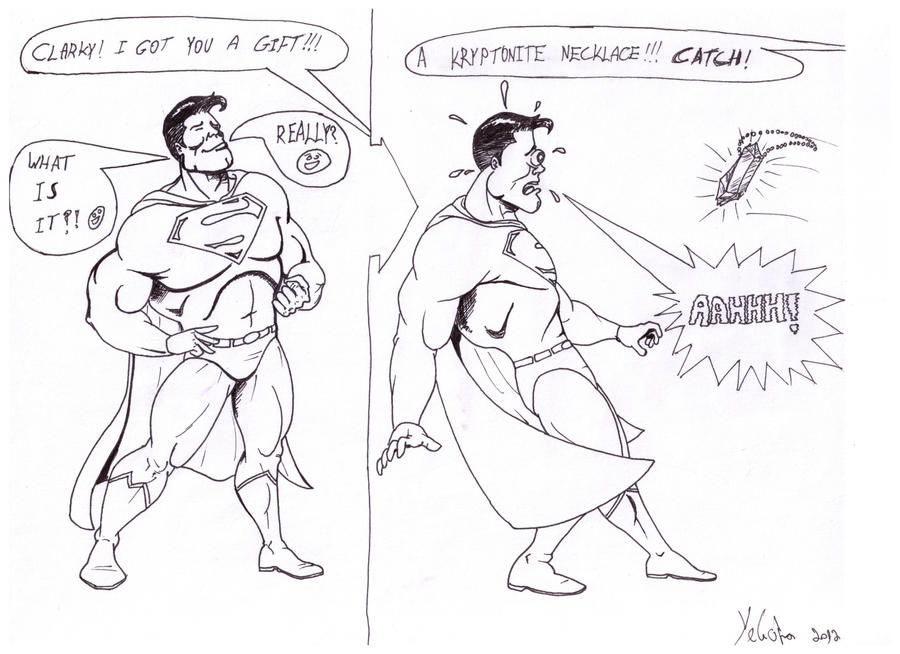 Superman in trouble by Leibo1