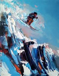 A Good Skier by BozhenaFuchs