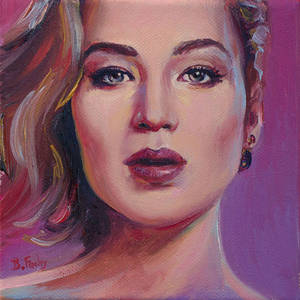 Contemporary portrait of Jennifer Lawrence