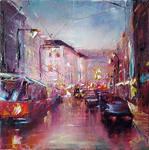 Cityscape painting by BozhenaFuchs