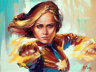 Captain Marvel by BozhenaFuchs