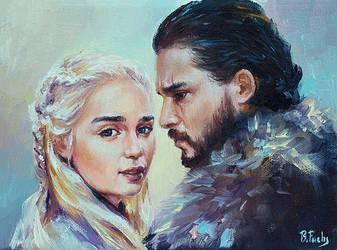 Jon x Daenerys by BozhenaFuchs