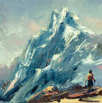 Climbing art by BozhenaFuchs