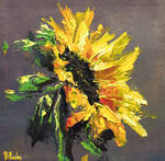 Sunflower art by BozhenaFuchs