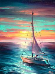 Colorful seascape by BozhenaFuchs