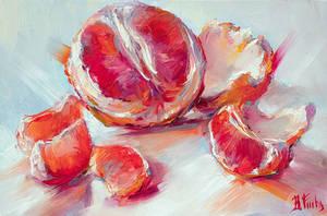 Grapefruit art by BozhenaFuchs