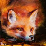 Fox painting by BozhenaFuchs