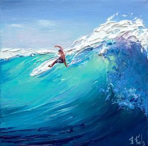 Surfer miniature painting