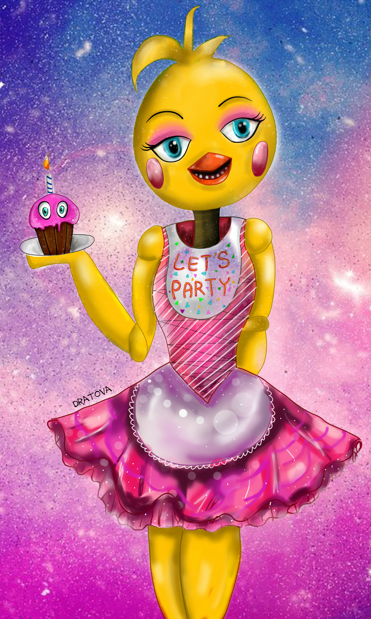 Five nights at freddys 2 toy chica fan art