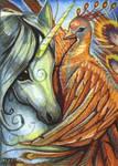 ACEO Phoenix's Embrace