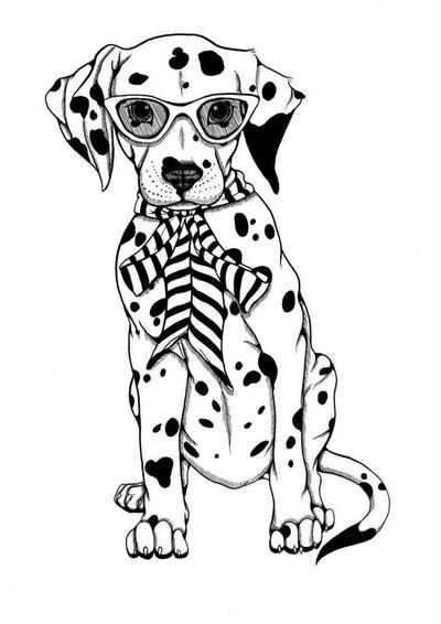 Dalmatian with Glasses by DawnUnicorn