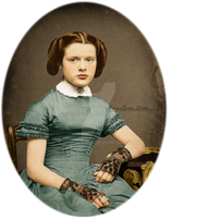 Young Lady with Lace Gloves