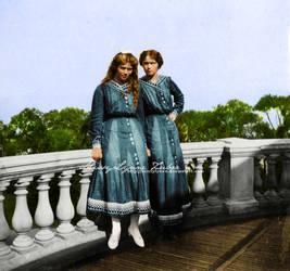 Maria and Olga 1913 by MissyLynne