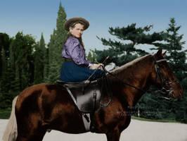Mashka on Horseback