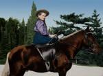 Mashka on Horseback by MissyLynne