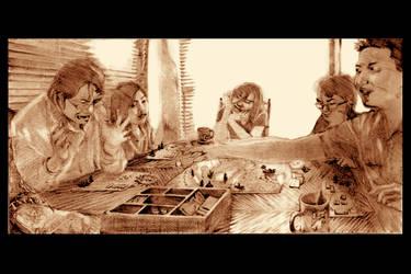 Boardgame Drama - Pencil by spidol