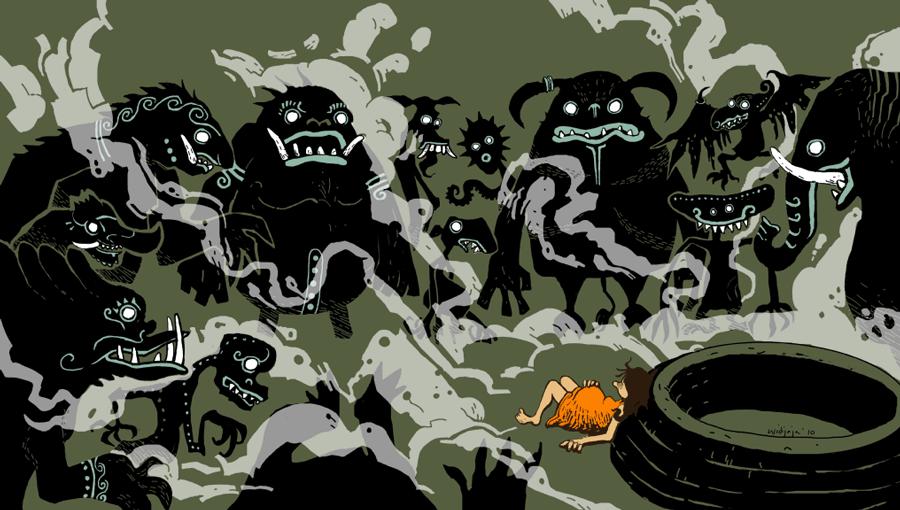 Surrounding Demons by spidol