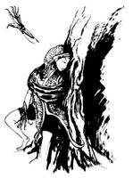mother pursued by spidol