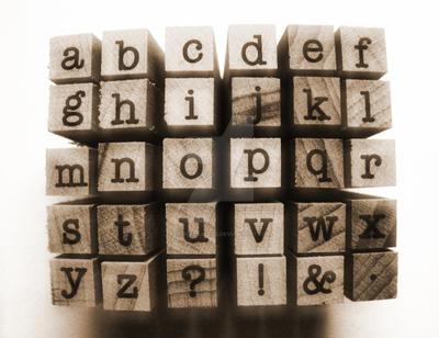 Vintage Alphabet by PurpleDaizie2